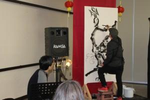 垂井ひろしさんによる見事なライブペインティング。