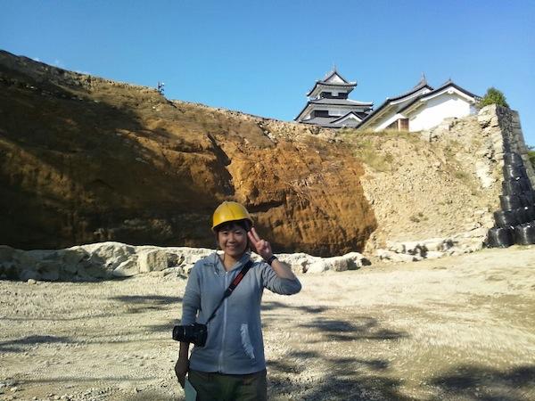 震災後の石垣除去直後 2012年10月