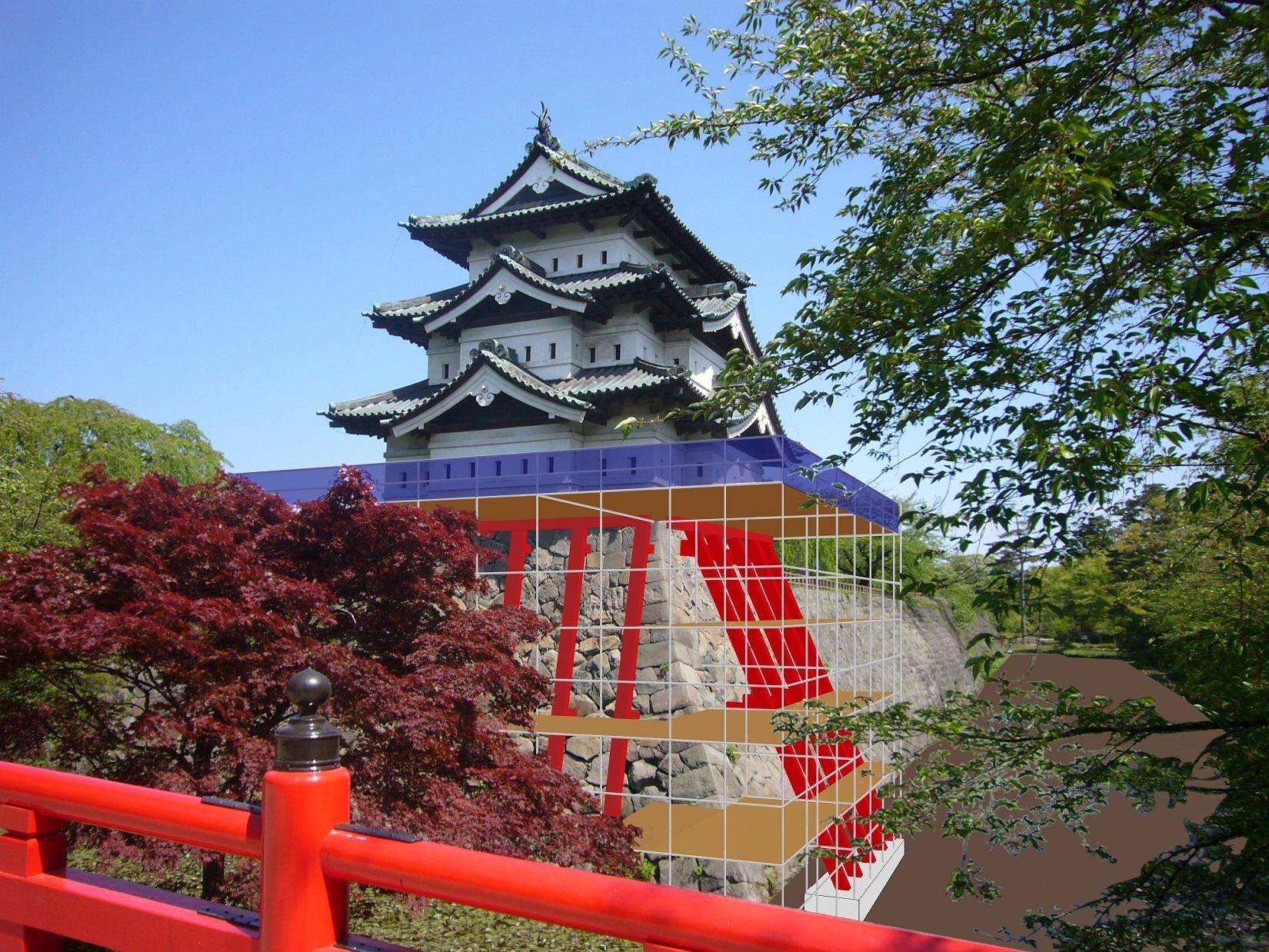 【スケールでか!】弘前城 天守を70m引っ張って移動!?あなたも挑戦できる大工事!