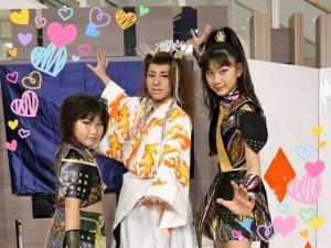 清洲うつけ祭りに出演する魔術師-京次郎さんと。