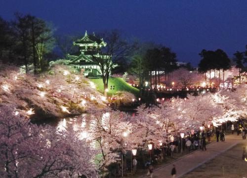 【4/3~19 】城&桜&ライトアップ!最強の組み合わせで開催される「日本三代夜桜 観桜会」