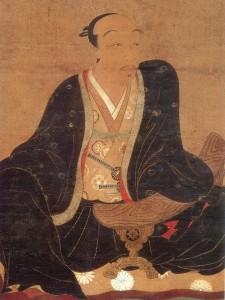 加賀前田藩祖 前田利家。若い頃は「槍の又左」の異名を取る猛将だったそうだ。