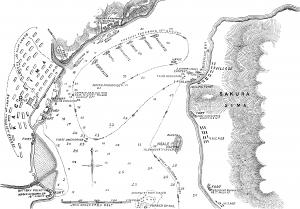 当時の新聞による戦況図(wikipedia)