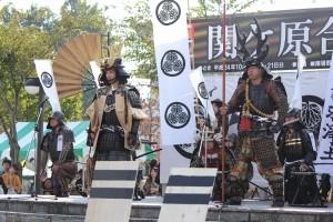 東軍総大将 徳川家康公と、徳川四天王のうち最強と言われる本多忠勝公。