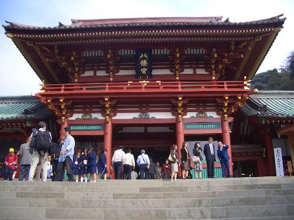鶴岡八幡宮本殿。
