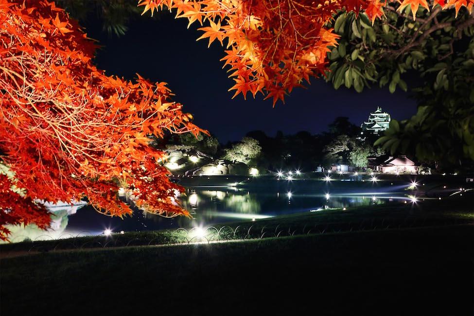 【 つぎは岡山 】日本三大名園「岡山後楽園」でも初めての紅葉ライトアップが公開!