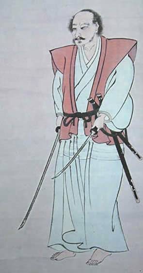 宮本武蔵像 島田美術館蔵。熊本県指定重要文化財 wikipediaより