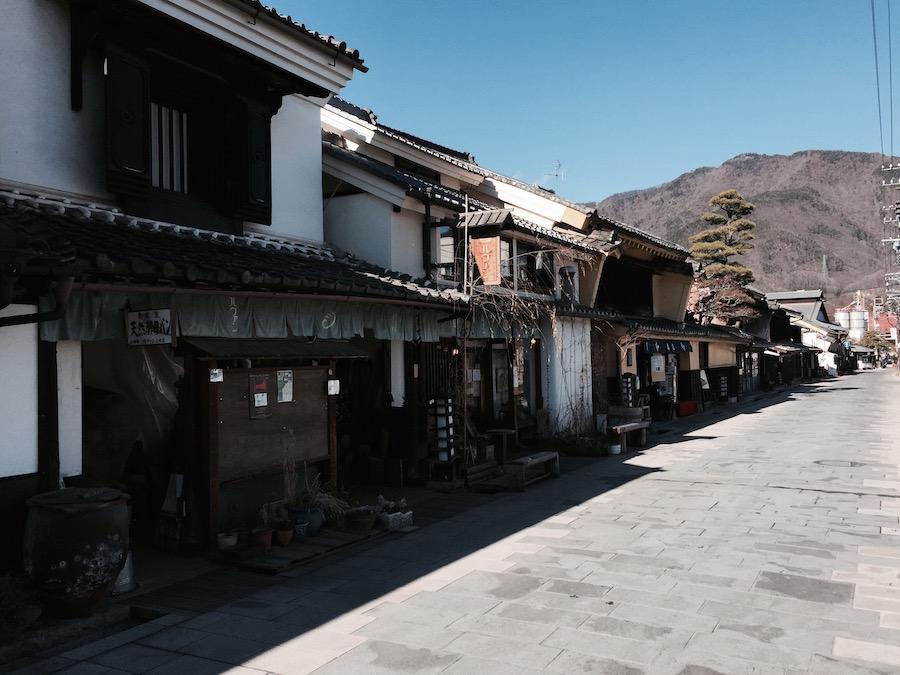 旧北国街道沿いの柳町。風情が素晴らしい。