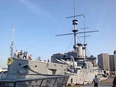 連合艦隊旗艦 三笠。現在は神奈川県横須賀市に展示。(編集部撮影)
