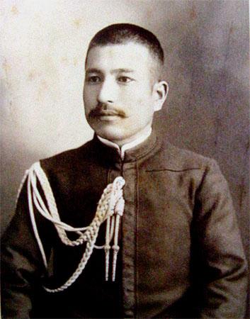 秋山真之。日露戦争の雌雄を決する日本海海戦での大勝利を指揮した。