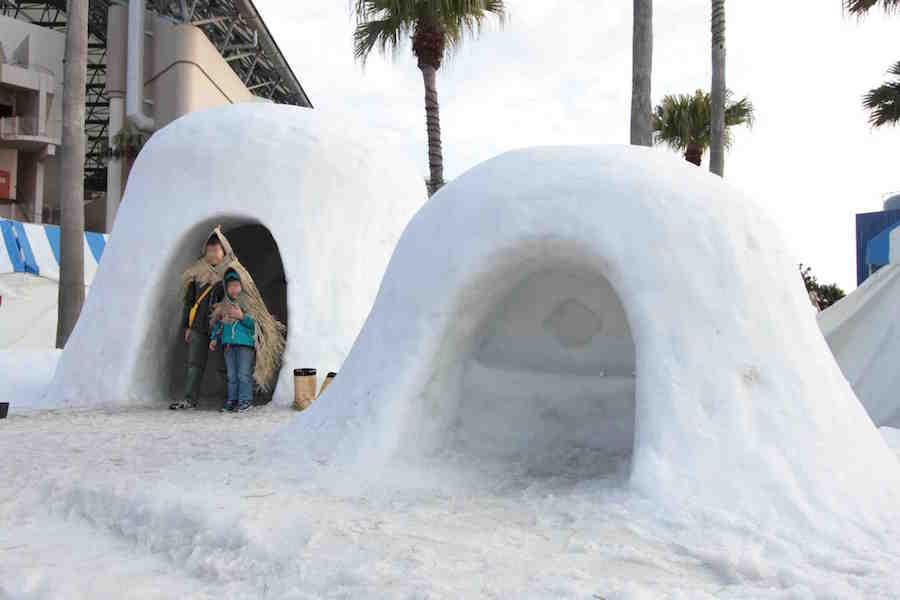 30トンもの雪を運んでつくる「かまくら」。