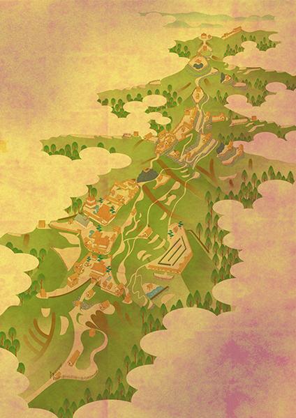 河内飯盛城鳥瞰図。山本書院グラフィックス様より