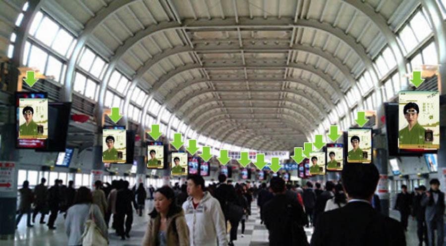 品川駅自由通路のイメージ図。ちょっと怖いw
