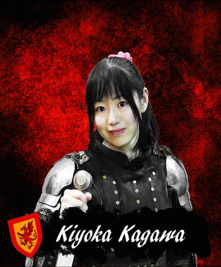 昨年の世界大会でなんと3位入賞の女性ファイター ドラコーネスの加川選手。凄い!