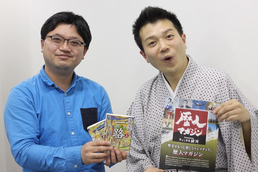 オトバンク制作プロデューサー伊藤さんとたけ平さん。