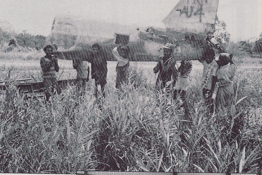パプアニューギニアで発見された時の写真。