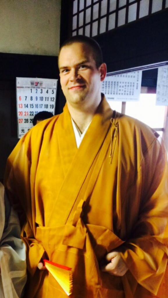アメリカ人僧侶ジェシー・ロバート・ラフィーバーさん。