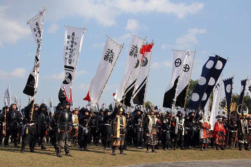 毎年秋に開催の「関ヶ原合戦祭り」より。カッコええ!