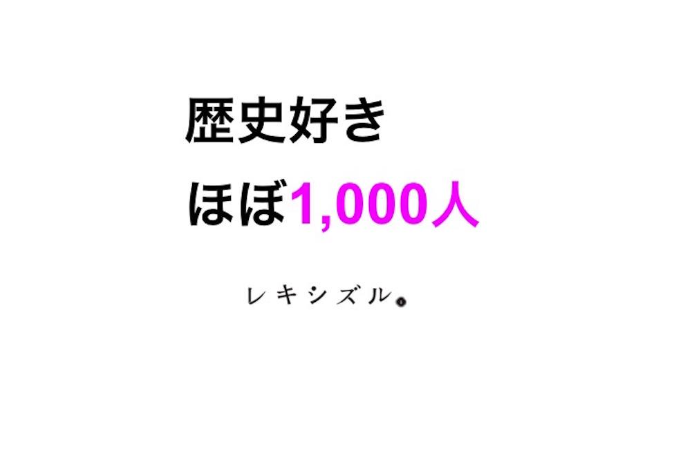 「ほぼ1,000人の歴史好き、分析レポート」レキシズル 渡部麗