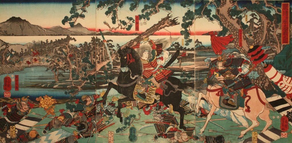 「粟津の戦いの巴御前」