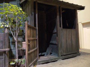 江戸後期の長家の共同便所(深川江戸資料館)