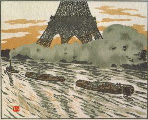 エッフェル塔三十六景「川船」