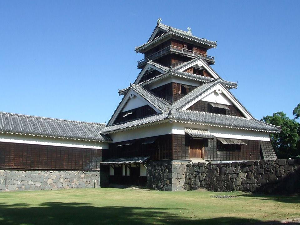 震災前の宇土櫓。