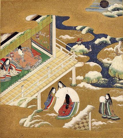 平安の雅な世界が描かれた「源氏物語画帖」
