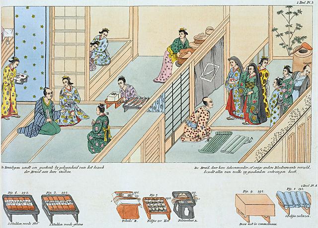 江戸時代の結婚式のイラスト