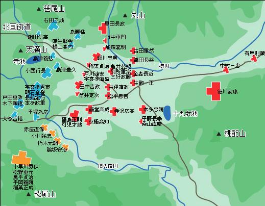 「関ヶ原の戦いにおける布陣図」