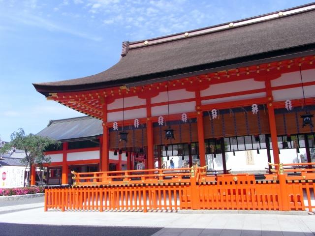 市内にある八坂神社。