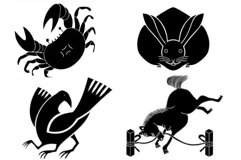 【 これ、全部家紋です 】 うさぎ、蝙蝠…可愛い「動物紋」コレクション
