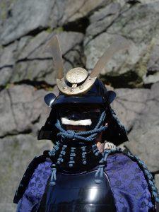「総大将」美崎氏。顔が見えないけど、会では面頬を取るそうですw