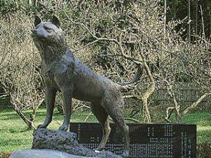 「藤川天神(鹿児島県)にあるツンの銅像」