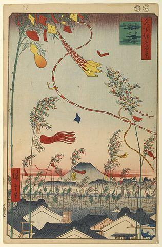 『市中繁栄七夕祭』(歌川広重)