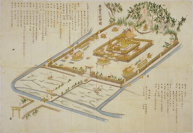 明治8年頃作成された「出雲大社絵図」(国立公文書館所蔵)
