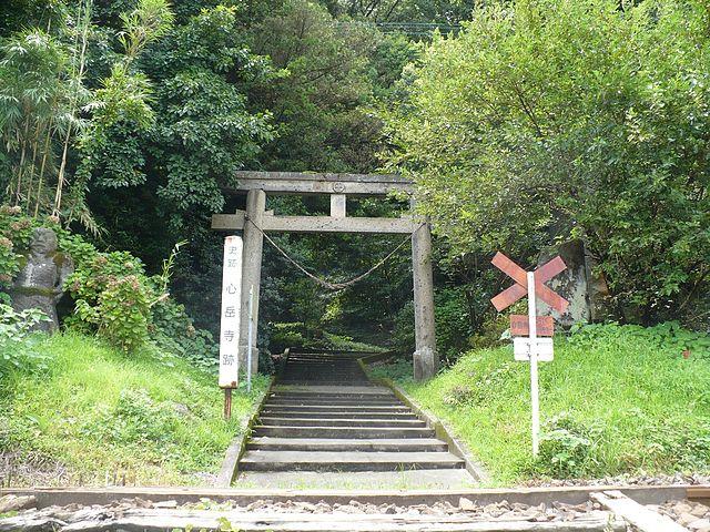 「歳久終焉の地:平松神社(心岳寺跡)」
