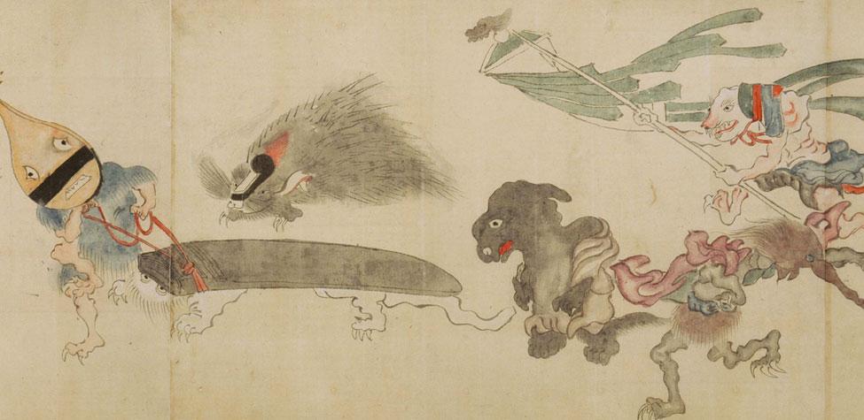 「百鬼夜行絵巻」(京都・真珠庵蔵)