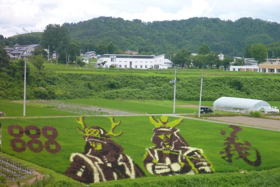 【 稲刈り前に出陣じゃ 】田んぼアートの楽しさとクオリティがスゴイ