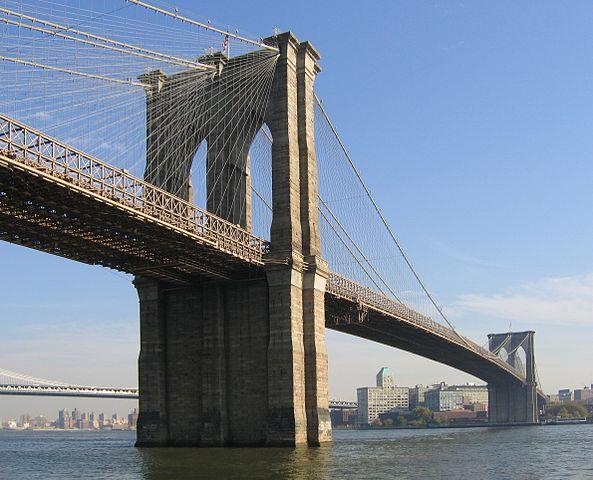 当時世界最長の吊橋だったNYブルックリン橋