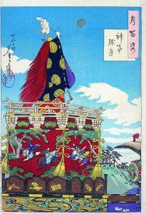 江戸時代の山王祭の様子