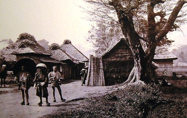 「生麦村の様子(当時)」