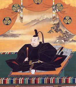 徳川家康の肖像画。