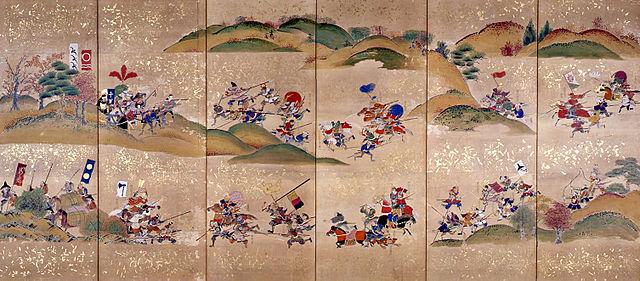 関ヶ原での大敗を知り退却する直江兼続を追撃する最上義光