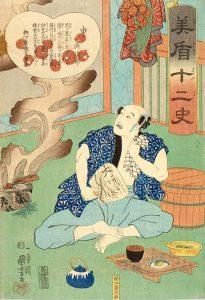 江戸時代の食事、質素です。