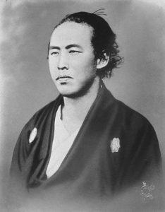 「薩長同盟成立のため西郷を説得した坂本龍馬」