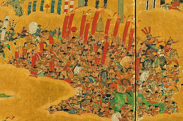 『大坂夏の陣図屏風』に描かれた真田勢。