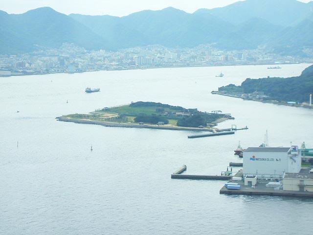 「関門海峡に浮かぶ無人島・巌流島(船島)」