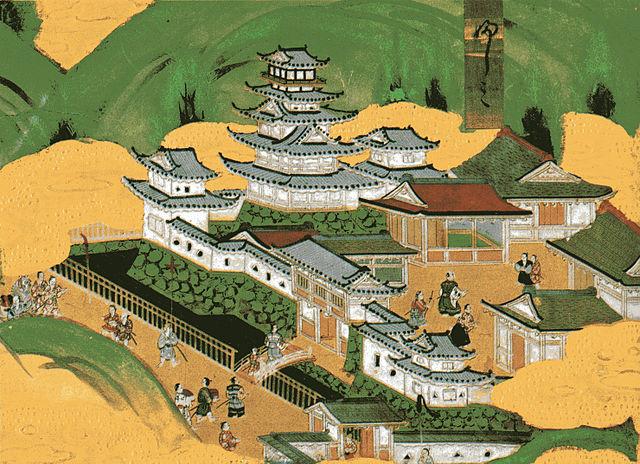 『洛中洛外図』の徳川時代の伏見城