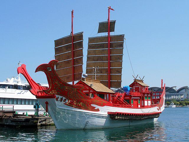 上海万博で復元された遣唐使船